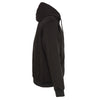 Mens Motorcycle Heated Blk Hoodie Jacket with chargeable battery