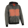 Mens Motorcycle Biker Heated Grey Hoodie Jacket with chargeable battery