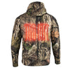 Motorcycle Biker Heated Camo Hoodie front and back heating Jungle Mossy