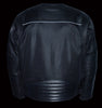 Men's Motorcycle Textile Mesh Combo Leather Jacket with Armors - Leather Place