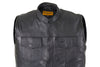 MEN'S SON OF ANARCHY LEATHER MOTORCYCLE VEST 2 GUN POCKETS