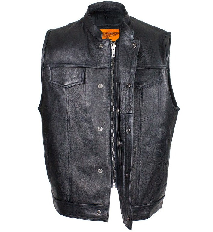 Brand new Mens Biker Riding Patch Holder 7 Pocket leather vest with High  MD25