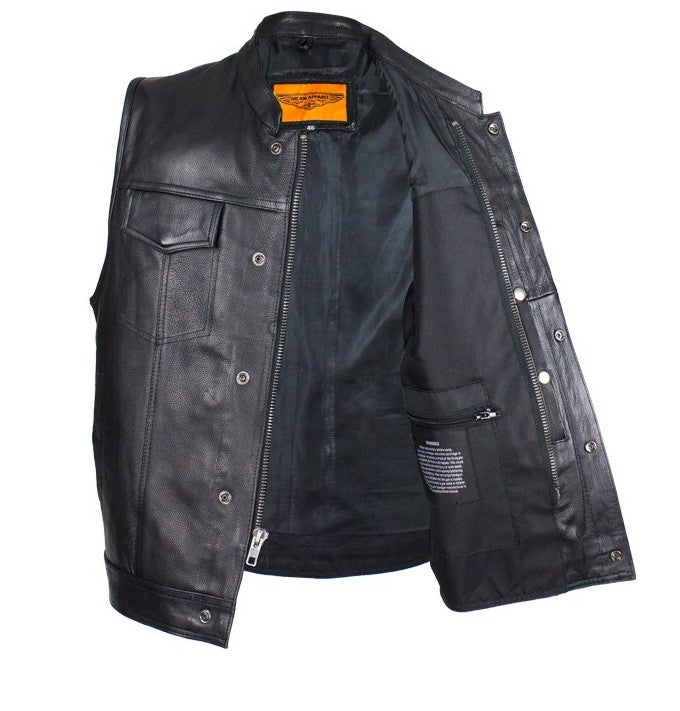 Very best Mens Biker Riding Patch Holder 7 Pocket leather vest with High  BN05