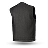 Men's Motorcycle Collarless Raw Canvas Heavy Hitter Preacher Vest