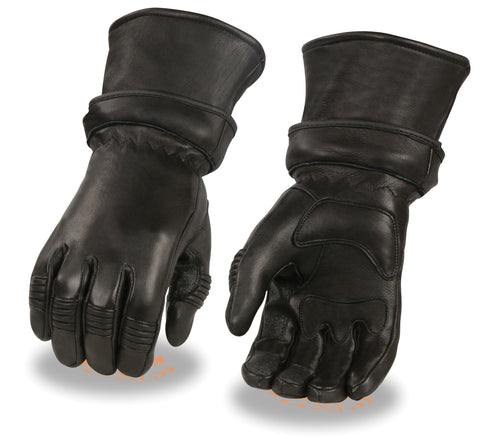 Men's American Deer skin Thermal Lined Guantlet with zip off cuff guantlet gloves