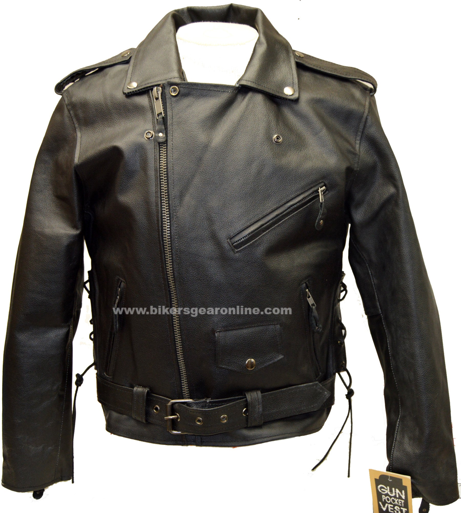 WOMENS MOTORCYCLE TRADITIONAL POLICE LEATHER JACKET