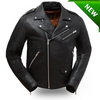 Men's Motorcycle biker updated terminator style leather jacket Enforcer