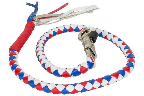Motorcycle Red/White/Blue Biker old School get back whip