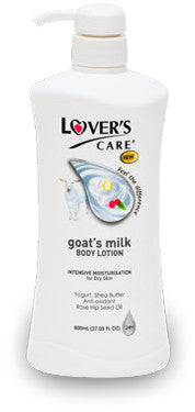 LOVER'S CARE GOAT'S MILK BODY LOTION 3X MOISTURIZING - ROSE HIP SEED OIL 27.05