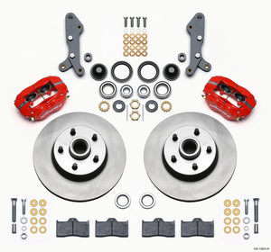 Wilwood Forged Dynalite-M Front Kit 11.30in 1 PC Rotor&Hub Red 60-68 Ford / Mercury Full Size