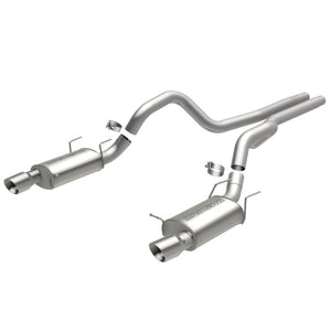 MagnaFlow 13 Ford Mustang Dual Split Rear Exit Stainless Cat Back Performance Exhaust (Street)