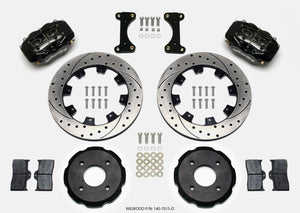 Wilwood Forged Dynalite Front Hat Kit 12.19in Drilled 2002 Mitsubishi Lancer