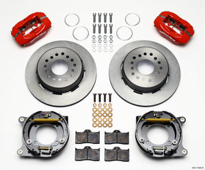 Wilwood Forged Dynalite P/S Park Brake Kit Red 55-57 Chevy 2.34in Offset