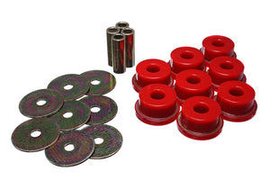Energy Suspension 05-09 Subaru Legacy Rear Subframe Bushing Set - Red