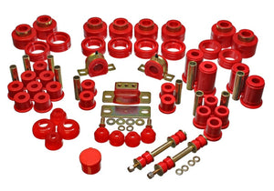 Energy Suspension 88-98 Chevy/GMC 2WD 1/2, 3/4, 1 Ton PickUp Red Hyper-flex Master Bushing Set