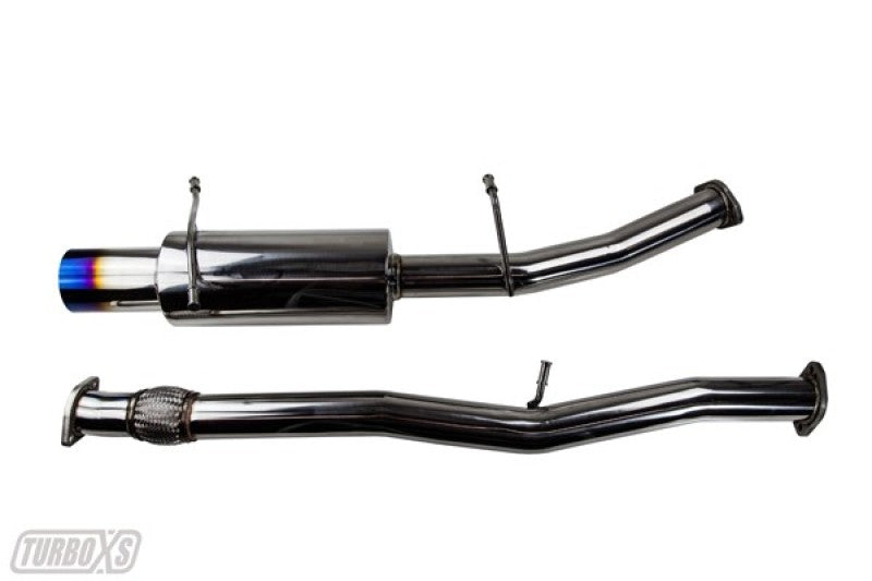 Turbo XS 02-07 WRX-STi Catback Exhaust Blued Tips