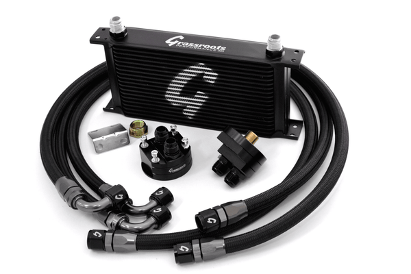Direct-FIt Oil Cooler Filter Relocation Grassroots Performance Oil Cooler Kit