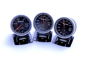 Oil Pressure Gauge, Water Temperature Gauge, and Electric Oil Temperature Gauge