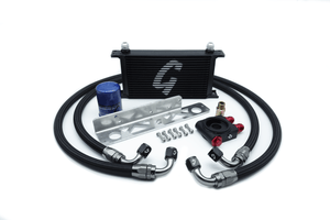 Nissan 350z Infiniti G35 Thermostatic 19-Row Oil Cooler Kit with Oil Filter