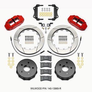 Wilwood Narrow Superlite 4R Rear Kit 12.88in Red 2007-up Jeep JK w/Lines