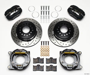 Wilwood Forged Dynalite P/S Park Brake Kit Drilled 55-57 Chevy 2.34in Offset