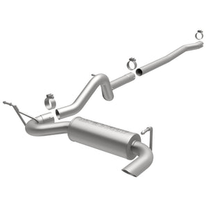 MagnaFlow 12-14 Jeep Wrangler 4dr Single Straight Rear P/S Exit Stainless C/B Performance Exhaust