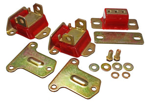 Energy Suspension 69-72 Camaro/70-73 Monte Carlo Red Complete Motor&Trans Mount Set Zinc Finish