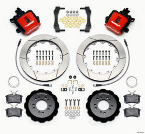 Wilwood Combination Parking Brake Rear Kit 12.88in Red 2013-Up Ford Focus ST w/ Lines