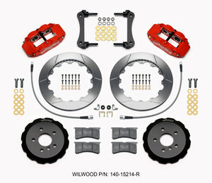Wilwood Narrow Superlite 6R Front Hat Kit 12.88in Red 2014-2015 Mini Cooper w/Lines