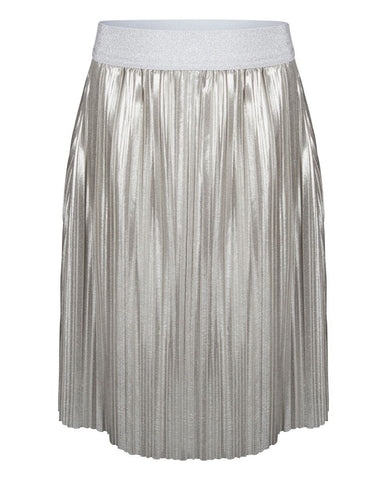 Pleated rok zilver