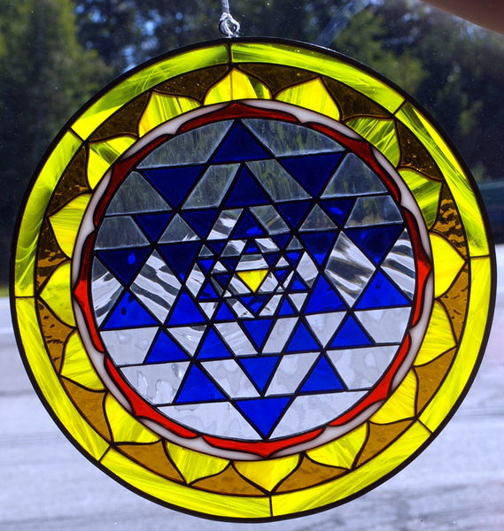 sri yantra,stained glass - Shaman's Dream Gifts