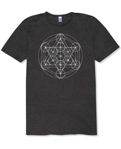 Metatron's Cube Men's Recycled T-Shirt,MD - Shaman's Dream Gifts