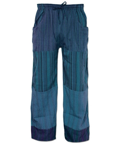 Puttin' on the Jam Patch Pants, Blue, MD - Shaman's Dream Gifts