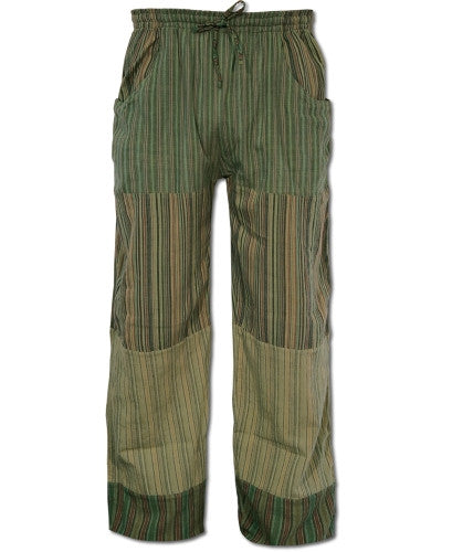 Puttin' on the Jam Patch Pants, Green, XL - Shaman's Dream Gifts
