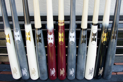 Bats lined up