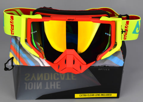 Vis-X | Red/Fluo Yellow