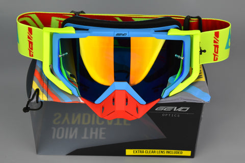 Vis-X | Blue/Fluo Yellow
