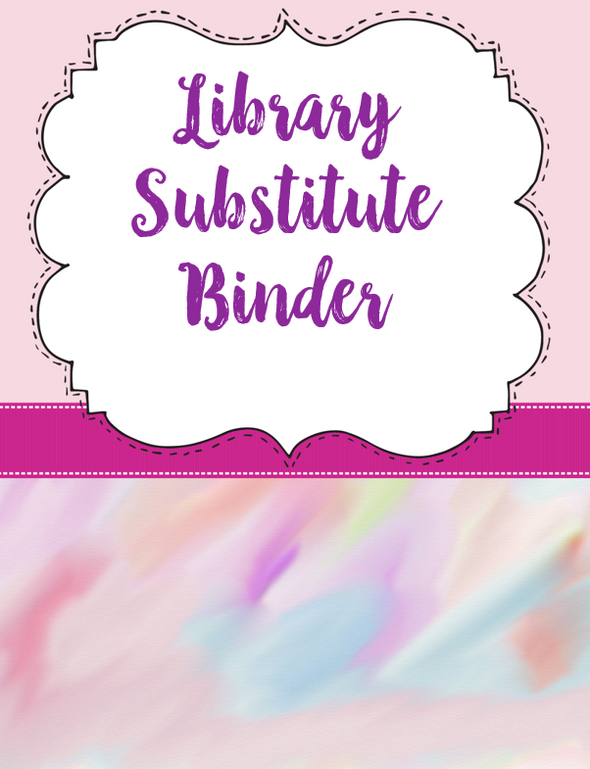 Library Substitute Binder & Lesson Plans - Staying Cool in the Library