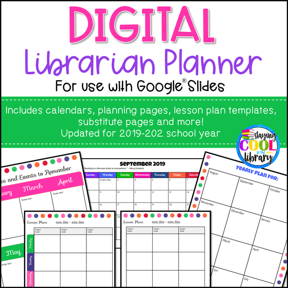 Digital School Library Planner (Google Slides)