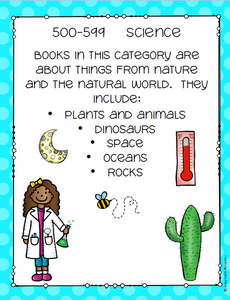 Dewey Decimal Posters - Editable Included - Staying Cool in the Library