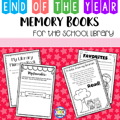 End of the Year Memory Books for the School Library - Staying Cool in the Library