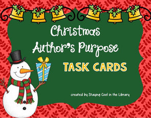Christmas Author's Purpose Task Cards