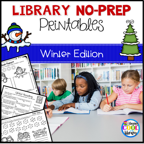 Library No Prep Printables - Winter Theme - Staying Cool in the Library