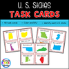 United States Map Task Cards - Staying Cool in the Library