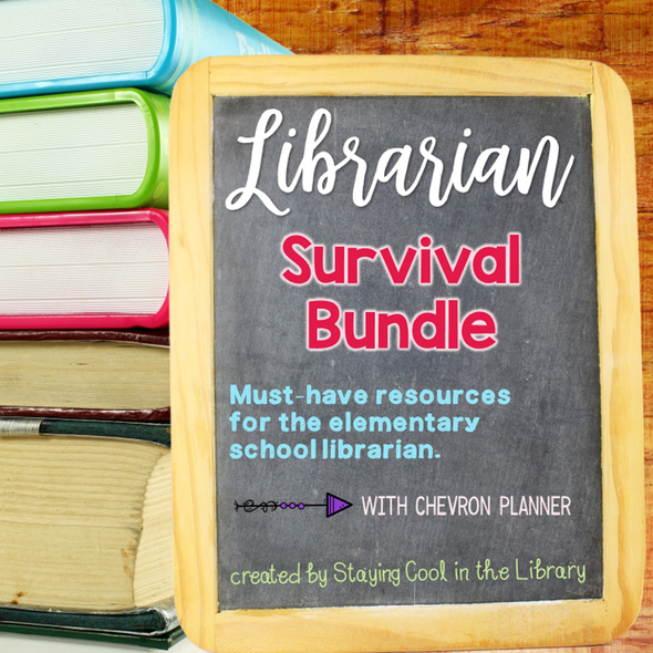 Ultimate School Librarian Survival Kit - Chevron Planner - Staying Cool in the Library