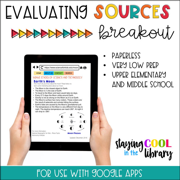 Evaluating Sources Digital Breakout