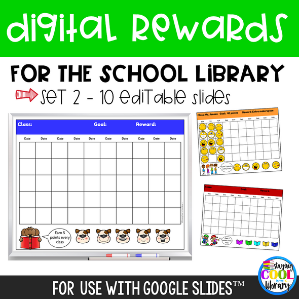 Digital Rewards for the School Library - Set 2