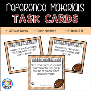 Reference Materials Task Cards - Staying Cool in the Library