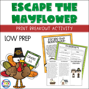 thanksgiving print breakout - staying cool in the library