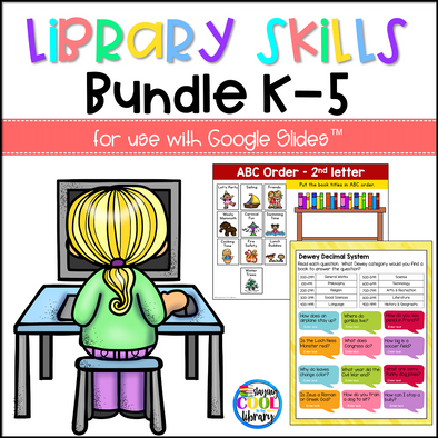 Library Skills Activities for Google Slides - BUNDLE
